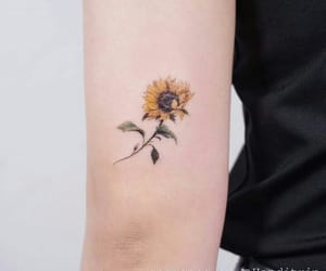 flowers, ink, and Tattoos image