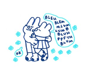 bunny, doodle, and draw image
