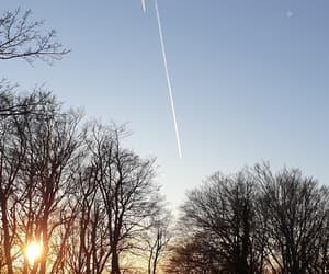 airplane, sunset, and amazing image