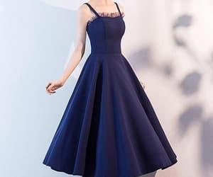 beauty, blue, and blue dress image