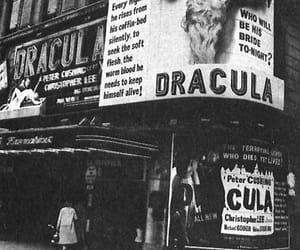 Dracula, black and white, and vampire image