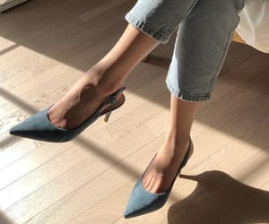 fashion, blue, and heels image