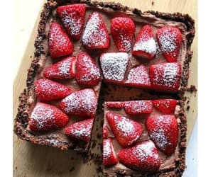 strawberry, food, and cake image