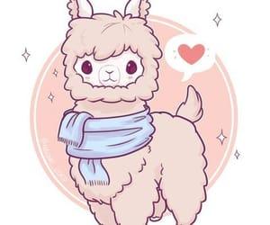 drawing and llama image