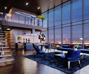 blue, decor, and interior design image