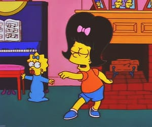 bart, the simpsons, and dance image
