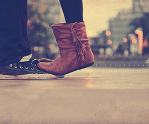 love, couple, and shoes image