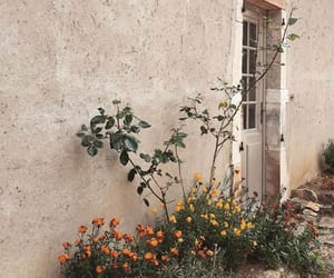 art deco, brown, and flowers image