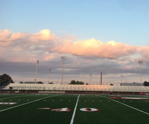 clouds, school, and sunset image