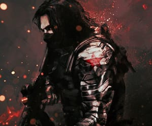 winter soldier, Marvel, and bucky barnes image