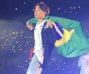 bts, jhope, and brazil image