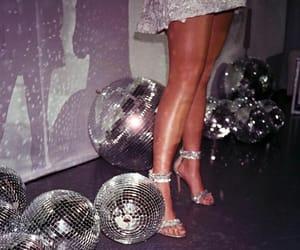 disco, disco ball, and glitter image
