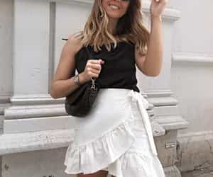 monochrome, street style, and summer outfit image