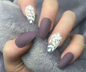 nails, white, and matte image