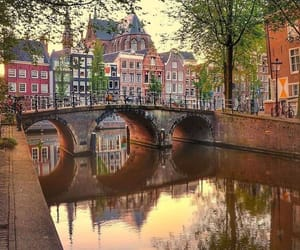 amsterdam, reflection, and architecture image