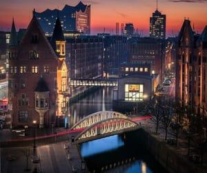 architecture, bridge, and citylights image