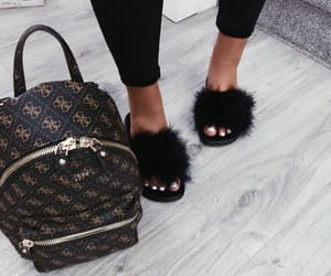 backpack, guess, and shoes image