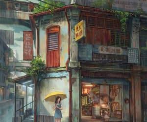 calm, rain, and city image