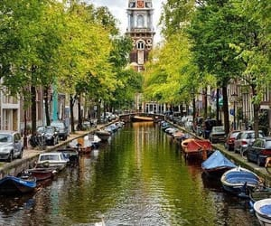 city, amsterdam, and netherlands image