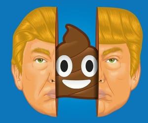 america, blue, and trump image