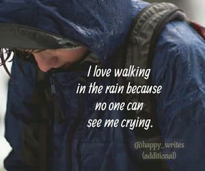 cry, rain, and quote image