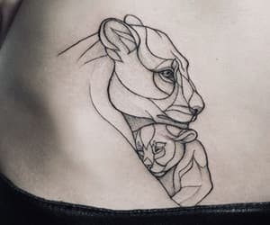 lines, mother, and tattoo image