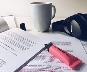 books, coffe, and highschool image