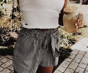 clothes, drink, and gingham image