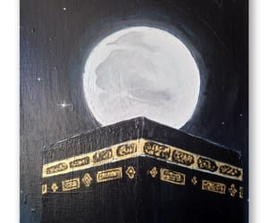 moonlight, painting, and makkah image