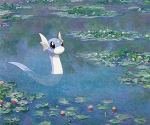 aesthetic, cartoons, and dratini image