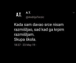 tekst, srce, and život image