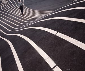 lines, road, and black image