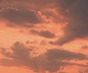aesthetic, sky, and peach image