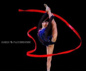 red, rhythmic gymnastics, and ribbon image