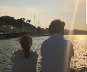 inlove, sunrise, and couple image