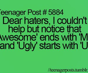awesome, haters, and ugly image