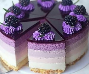 cake, food, and purple image