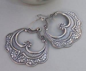 silver hoops, earrings, and gypsy earrings image