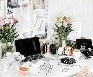 study, college, and desk image