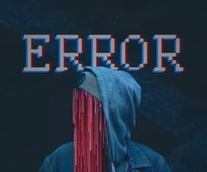 blue, error, and red image