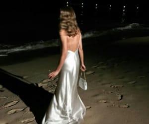 night, beach, and dress image