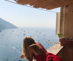 girl, travel, and sea image