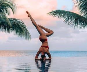 girl, yoga, and healthy image