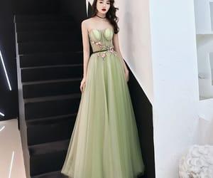 girl, long dress, and formal dresses image