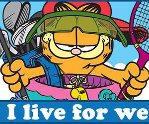 garfield, weekend, and weekends image