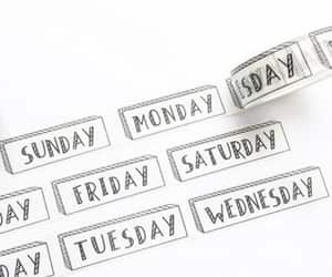 etsy, journal, and days of the week image