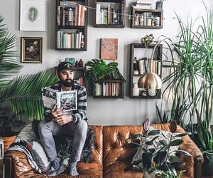 book shelf, decor, and home image