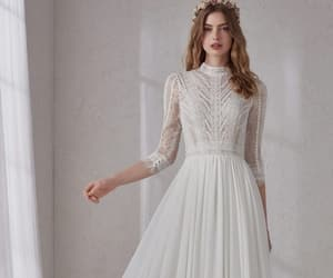 aesthetic, fashion, and wedding dress image