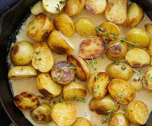 food, potatoes, and love image