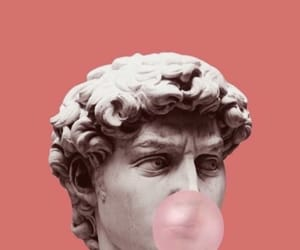 art, statue, and pink image